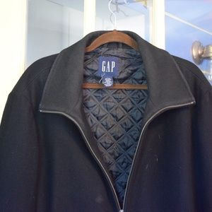 Gap zip up wool coat